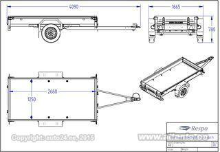 Respo Kastihaagis 2.7x1.25m 750kg 750M271L125 PLH