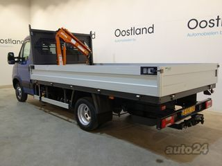 Iveco Daily 35C14 3.0 CNG open box with Atlas crane 3.0 CNG EEV 100kW