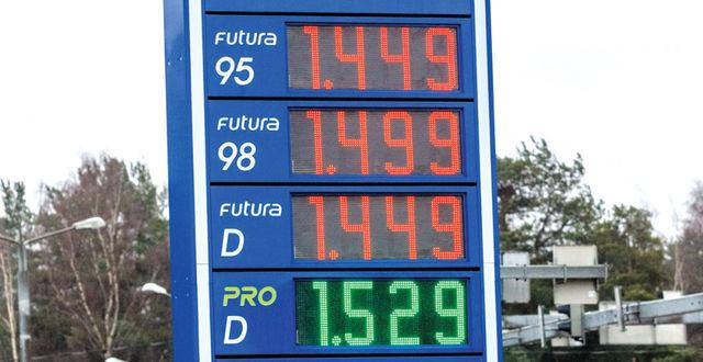 Diislikütuse hind püstitas läinud nädalal uue rekordi ja 98 oma kordas varasemat tipptaset, kuid seejärel hakkasid need vaikselt allapoole tilkuma. Hindu vaadates ära unusta, et riigi kaukasse läheb sellest summast aktsiisi-, käibe- ja kütusevarumaksuna 60%. Foto: Pille Russi