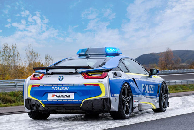 BMW i8 Polizei. Foto: AC Schnitzer
