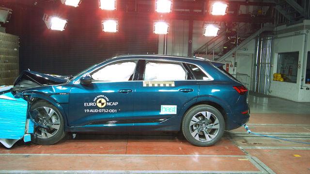 Audi e-tron. Foto: Euro NCAP