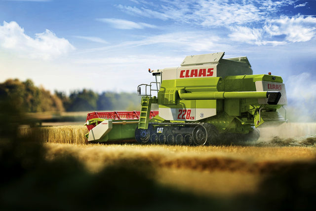 Claas Commandor 228 CS (1:32).  Foto: Wiking