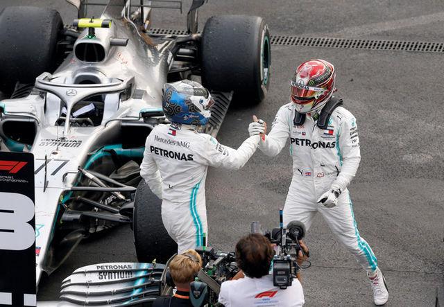 Lewis Hamiltoni kümnendast etapivõidust hoolimata jäi tiitliheitlus Mercedese tiimikaaslaste vahel Mehhikos lahenduseta. Foto: Wolfgang Wilhelm / Mercedes