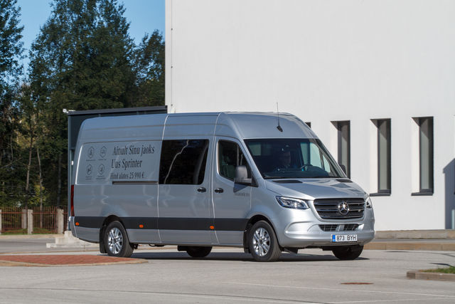 Mercedes Sprinter. Foto: Pille Russi