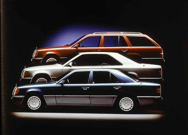 Sedaan, kupee, universaal ja teised – kokku tehti kõiki versioone ligemale 2,6 miljonit. Foto: Daimler