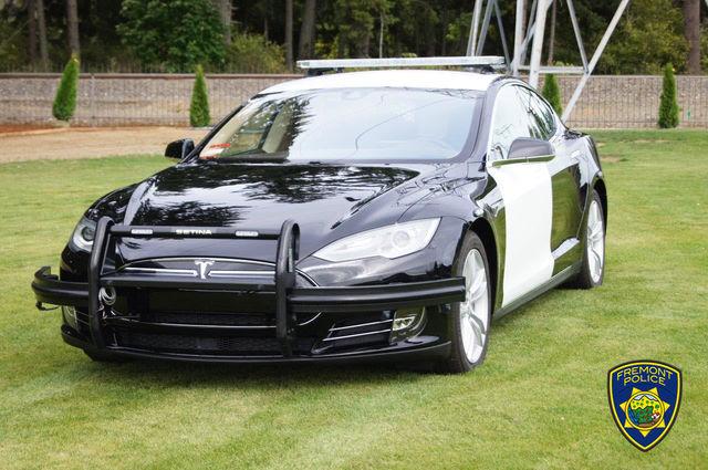 Tesla politseiauto. Foto. Fremont Police Department