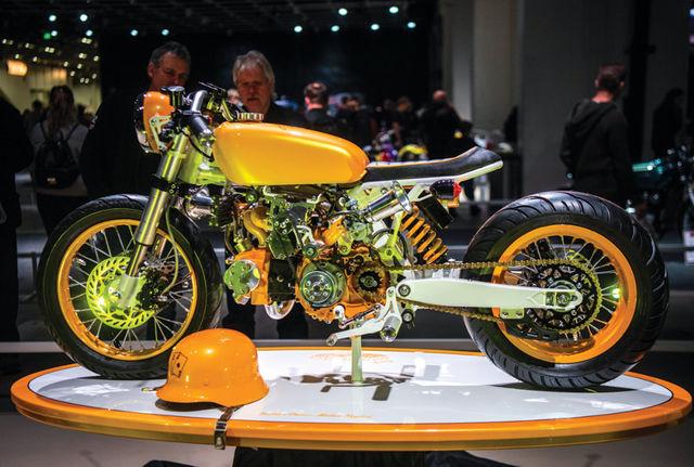 Matias Nygard laadis pocketbike'i mikromootori üle turbo- ja mahtkompressori ning naerugaasiga! Foto: Elmar Ots