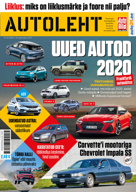 Autoleht, 18. september 2019